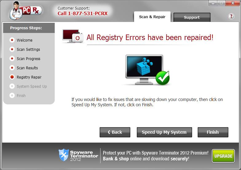 pc速度ブースターとレジストリ クリーナー pcrx security suite
